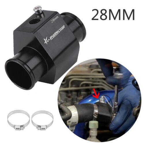S190 28mm Car Water Temp Temperature Joint Pipe Gauge Radiator Hose Adapter WD