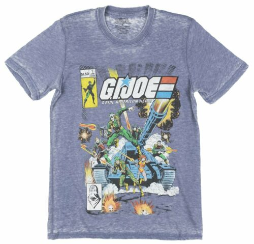 Joe Retro Comic Book Cover Short Sleeve Graphic T-Shirt Tee Top Mens Navy G.I