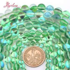 6750a9f32 Image is loading 6-12mm-Round-Green-Rainbow-Austria-Crystal-Synthesis-