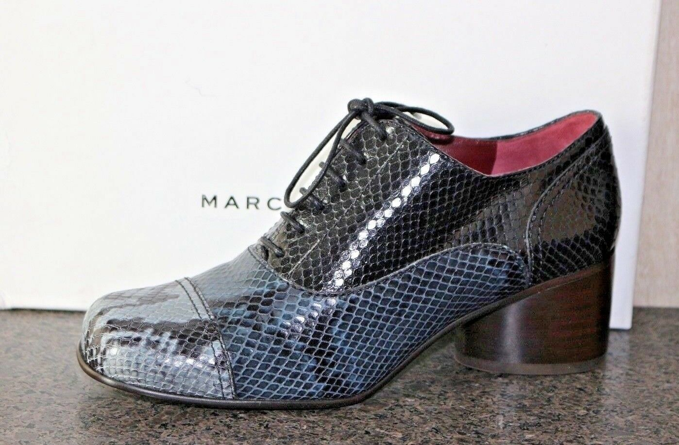 NIB MARK JACOBS JACOBS JACOBS MULTI-COLOR LACE UP EMBOSSED SNAKESKIN OXFORDS shoes 37 0e1965