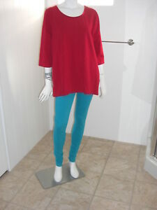 Catherines-Suprema-Collection-Red-Top-3-4-Sleeve-Blouse-Size-0XW-14-16W