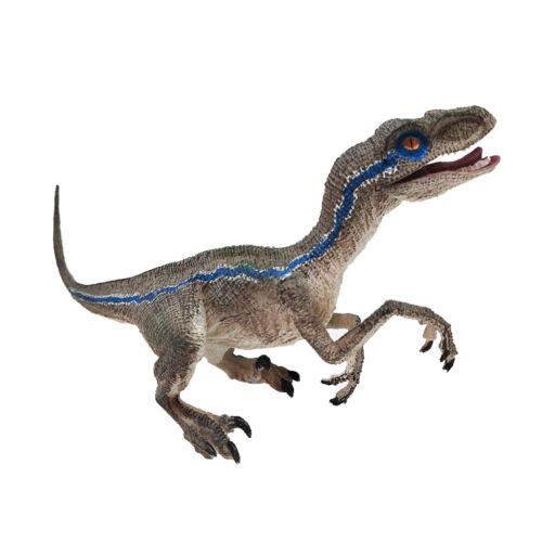 Blue Velociraptor Dinosaur Action Figure Animal Model Educational Toy Collector