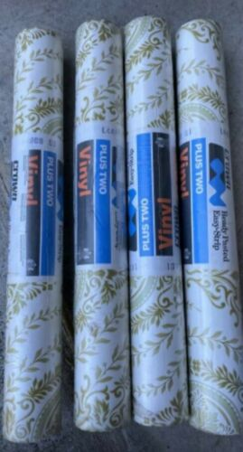 10 AVAILABLE PRICE IS PER METRE RETRO CROWN WALLPAPER GREEN PATTERN UNOPENED