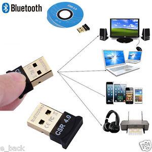 USB Wireless CSR 4.0 Dongle Adapter for PC LAPTOP WIN XP VISTA 7 8 10