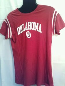 5ec837ea847b3 Womens t shirt Oklahoma University cotton XL red logo has sparkles ...