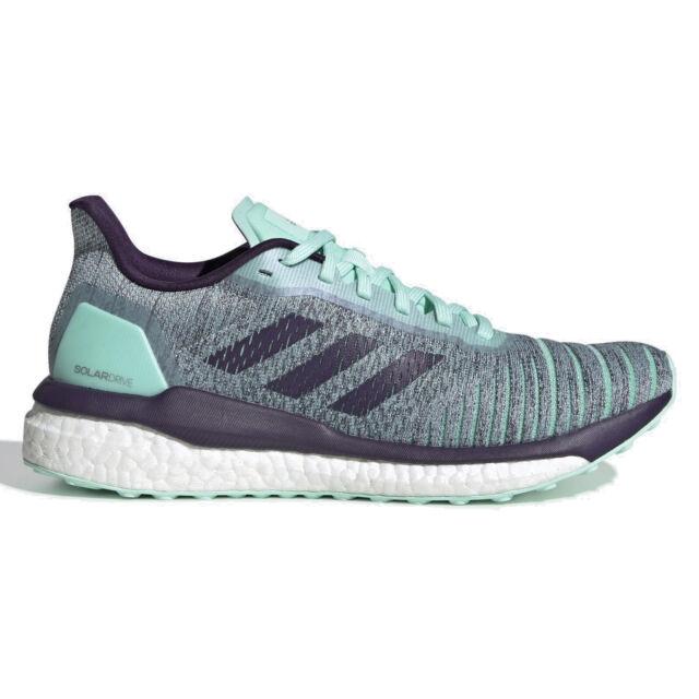 ADIDAS SOLAR DRIVE W Womens Boost Running Shoes - Mint Green / Purple - Size 8.5
