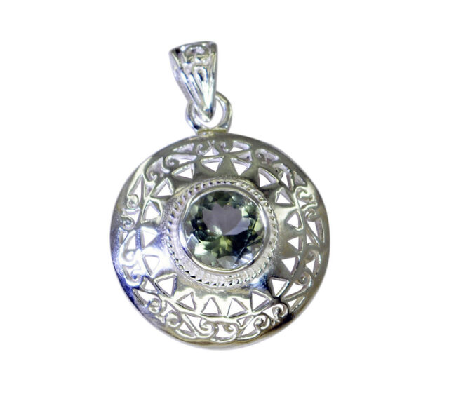 appealing Green Amethyst 925 Sterling Silver Green Pendant Natural indian US