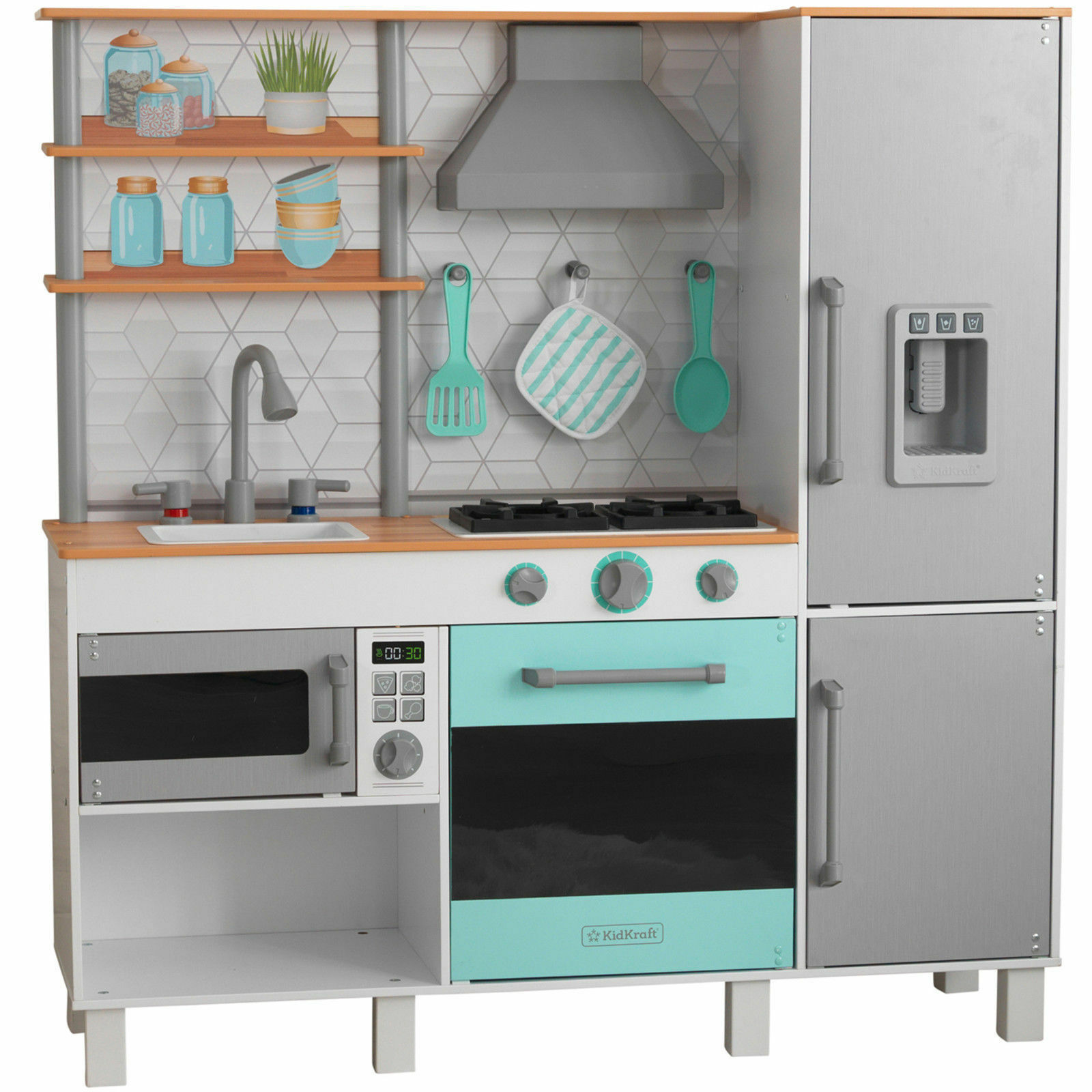 KidKraft Gourmet Chef wooden Play Kitchen With EZ Kraft Assembly