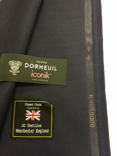 "DORMEUIL ""Iconik Nano"" Navy two tone Super 120's 100% Worsted Wool Suit Fabric"
