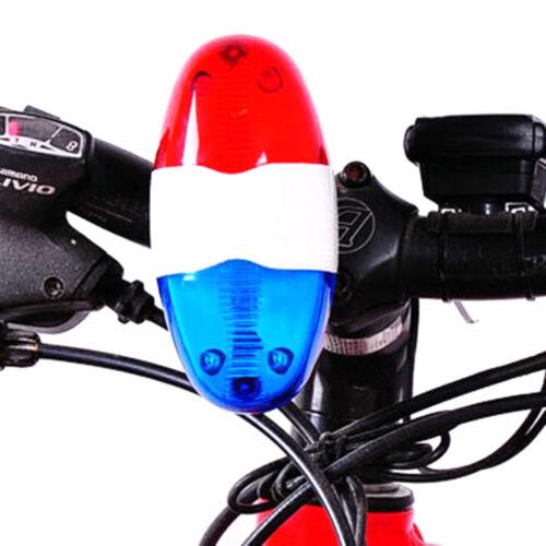 Vélo Police Lumière LED 4 Fort Sirène Son Trompette Cyclisme Corne Bell