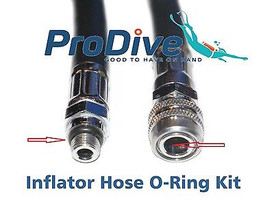 BCD Inflator Hose O-Ring Kit Scuba Dive O-Rings For Hoses
