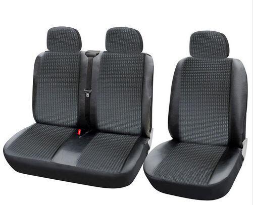 2+1 Schwarz Kunstleder LUX Sitzbezüge Schonbezüge Hochwertig Neu für Toyota VW