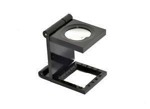 Lin Testeur Pli 6x Magnifyer 20mm Diamètre Lentille Petit Compact Plastique