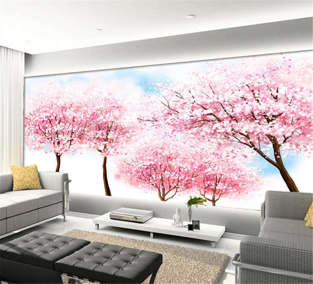 Remote Concise Peony 3D Full Wall Mural Photo Wallpaper Printing Home Kids Decor