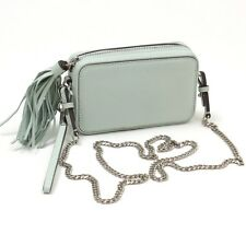BANANA REPUBLIC Green Leather Mini Zip Crossbody Purse Bag Clutch NEW Small