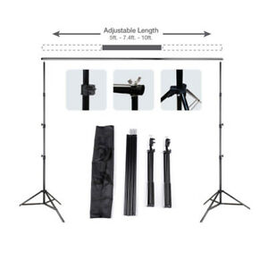 10Ft Pro Photography Photo Backdrop Support Stand Set Background Crossbar Kit 608819353661