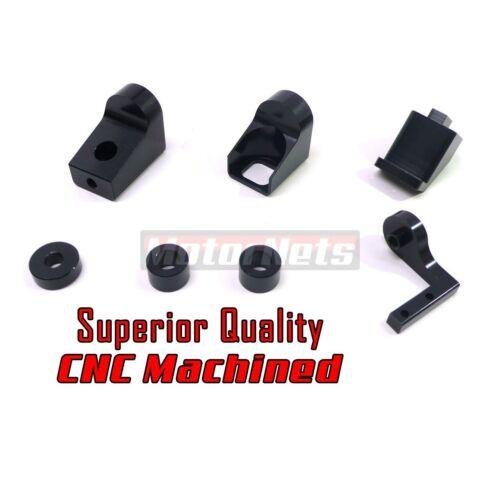 Black Billet CNC Aluminum Throttle Brackets Dominator Carburetor 4500 Holley Rod