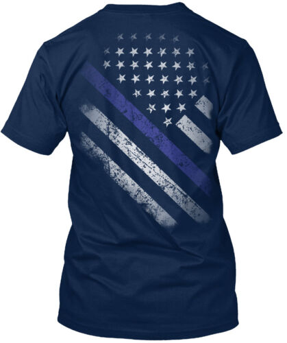 One-of-a-kind Mince Ligne Bleue Drapeau Standard Unisexe Standard Unisexe T-Shirt