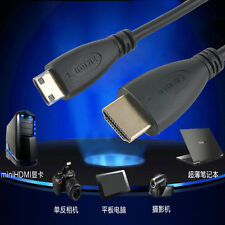 High Quality Black HDMI to Mini HDMI Type C Cable for HDTV DV 1080p Adapter