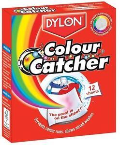DYLON COLOUR CATCHER 12 SHEETS WASHING MACHINE MIXED COLOUR WASH ...