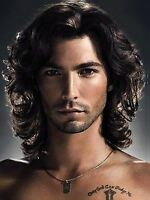 B-g Mens Black Curly Wig Heat Resistant Hair Wigs Natural Looking Wigs For Pa...