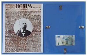 LENIN-primo-numero-Iskra-Russia-URSS-Comunismo-quadro-cornice-vetro-cm-30x24