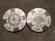 "Harley Poker Chip (Gray & Black) ""American Eagle"" Corinth TX ORIGINAL ART"