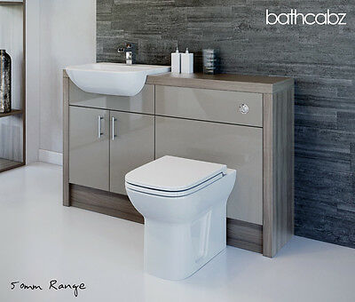 LATTE / DRIFTWOOD BATHROOM FITTED FURNITURE 1400MM