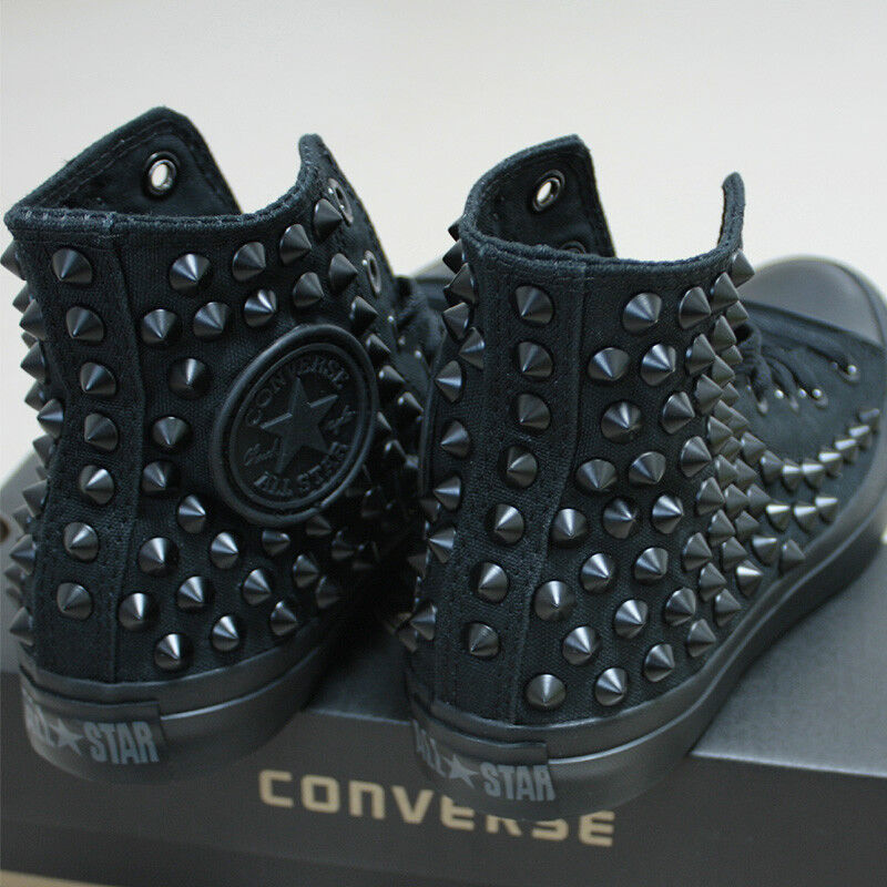 Genuine CONVERSE All-star with studs Sneakers Sheos Monochrome-Noir