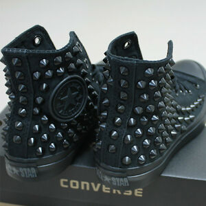 Details about Genuine CONVERSE All star with studs Sneakers Sheos Monochrome Black