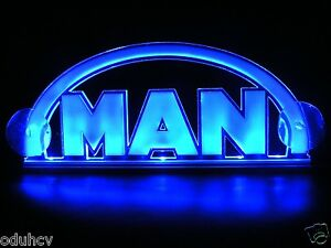 12v 3d led cabin interior light plate for man truck neon illuminating table sign ebay for Interior neon lights for trucks