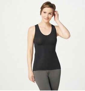 Spanx-Black-Trust-Your-Thinstincts-Tank-Top-S-New-Smoothing-Shapewear
