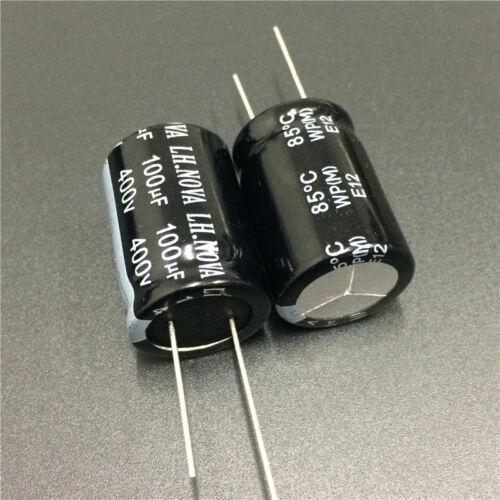 5pcs 100uF 400V LH.NOVA WP 22x30mm 400V100uF PSU Electrolytic Capacitor