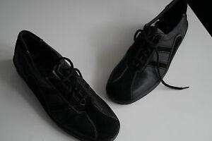 REMONTE-Lofters-Damen-Schuhe-Sneaker-Schnuerschuhe-Leder-schwarz-leicht-Gr-38-NEU