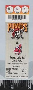 Pittsburgh-Pirates-Cleveland-Indios-Beisbol-Ticket-Julio-15-1999-Tres-Rivers-1
