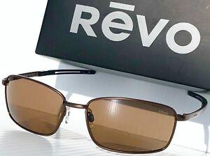 3495c8b0aa NEW  REVO TRANSPORT Gunmetal Brown w POLARIZED Bronze Sunglass 5000 ...
