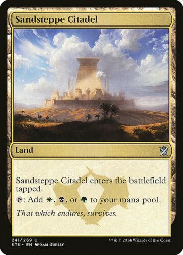 English, Khans of Tarkir, Free P/&P MTG Sandsteppe Citadel
