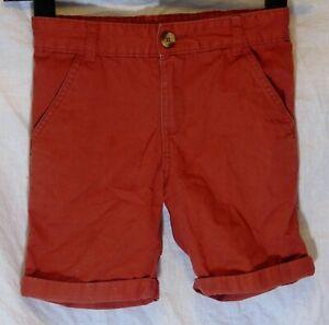Ragazzi-F-amp-F-scuro-ruggine-Red-denim-regolabili-in-vita-Pantaloncini-Eta-6-7-anni