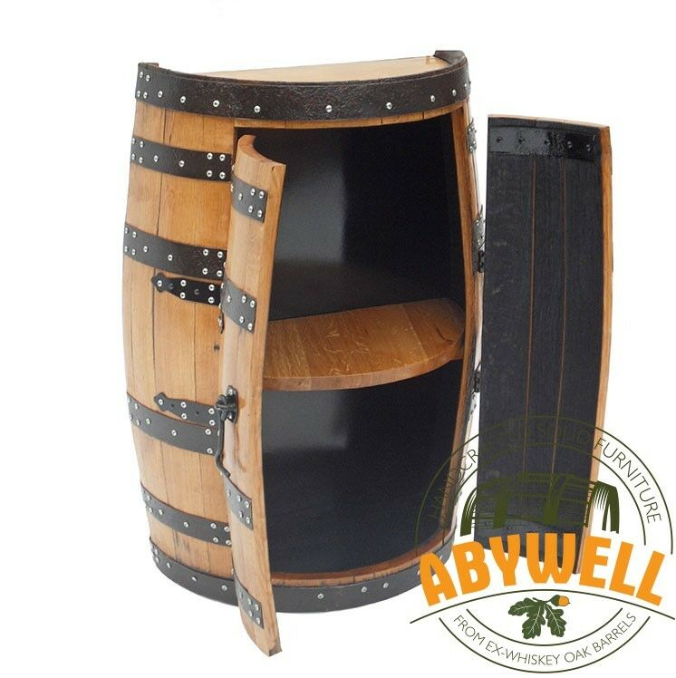Whisky tonneau Cabinet _ Chêne Baril-Bar _ Handmade de scotch whisky Barrel