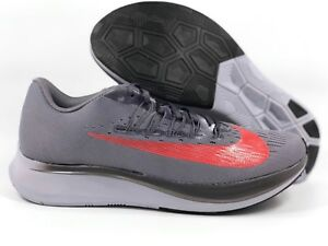 78597154d7b42 Nike Zoom Fly Gunsmoke Grey Crimson Red Running Shoes 880848-004 ...