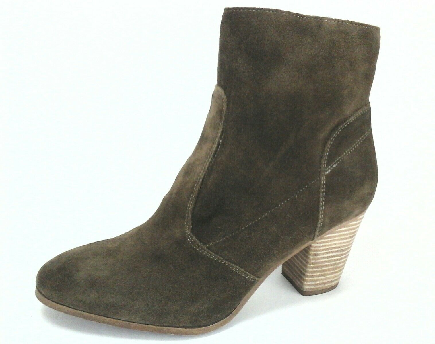 VINCE CAMUTO Ankle Boots Brown Suede Bootie Heels Women's US