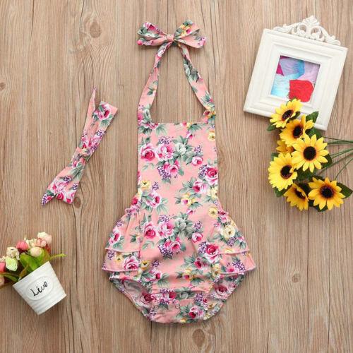 Infant Baby Kids Girls Summer Jumpsuit Romper Outfits Bodysuit Dress Clothes CO