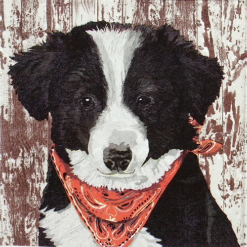 Decoupage 4x Paper Napkins for Party Two Can Art: Dog Melvin