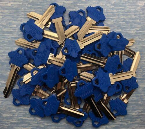 SC1 Residential Key Blanks for Locksmith Blue Plastic Head 50 Pieces
