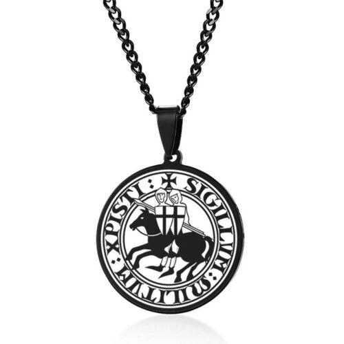 Vintage Viking Aum Eye Of God Disc Sun Coin Pendant Necklace Men Stainless Steel