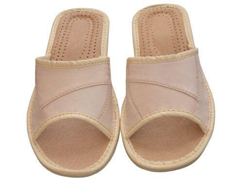 Latschen,Pantoffeln XA20-BE Echtleder Damen Hausschuhe Größe 36-41