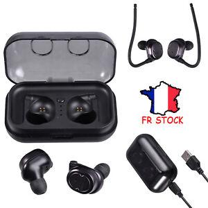 Casque stéréo sans fil TWS Écouteurs Casque intra-auriculaire Bluetooth 5.0
