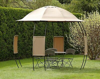 CANOPY AND SIDES for Garden Nation Camelot Argos Sphere 3m Round Patio Gazebo