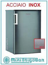 Frigorifero Mini Frigo Bar in ACCIAIO INOX piccolo 100 Litri Moderno con Freezer