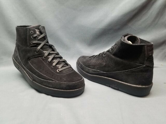 Nike Air Jordan 2 Retro Decon Men Size 10.5 Basketball Shoe Black 897521 010